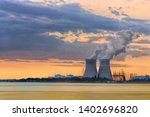 Riverbank With Nuclear Power...