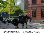 Police On Horses And...