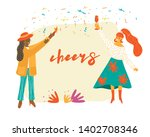 people celebrating party...   Shutterstock .eps vector #1402708346