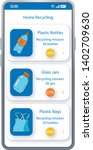home recycling app smartphone...