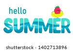 bright banner hello summer.... | Shutterstock .eps vector #1402713896