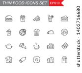 food thin line icons set ... | Shutterstock .eps vector #1402716680