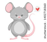 cute rat cartoon vector... | Shutterstock .eps vector #1402718360