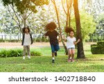 children jumping and playing... | Shutterstock . vector #1402718840