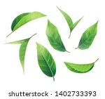 new set of 3d realistic green... | Shutterstock .eps vector #1402733393