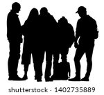 big crowds people on white...   Shutterstock .eps vector #1402735889