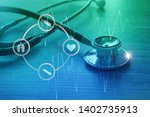 medical examination and... | Shutterstock . vector #1402735913