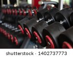 weight lifting equipment in... | Shutterstock . vector #1402737773