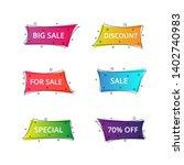 set of geometric flat banners.... | Shutterstock .eps vector #1402740983