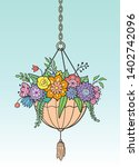 Decorative Planter Hanging On A ...