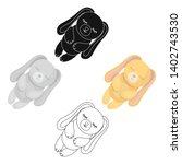 toy rabbit icon in cartoon... | Shutterstock .eps vector #1402743530