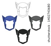 superhero's helmet icon in... | Shutterstock .eps vector #1402743680