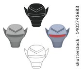 superhero's helmet icon in... | Shutterstock .eps vector #1402743683