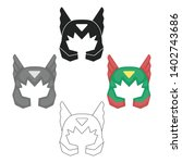 superhero's helmet icon in... | Shutterstock .eps vector #1402743686
