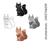 squirrel  single icon in... | Shutterstock .eps vector #1402746059