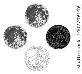 moon icon in cartoon black... | Shutterstock .eps vector #1402749149