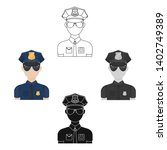 police officer icon in cartoon... | Shutterstock .eps vector #1402749389