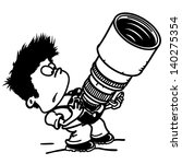 photographer with a large and... | Shutterstock .eps vector #140275354