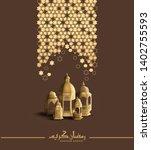 ramadan kareem design with...   Shutterstock .eps vector #1402755593