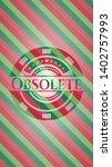 obsolete christmas style emblem.... | Shutterstock .eps vector #1402757993