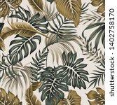 tropical floral vintage foliage ... | Shutterstock .eps vector #1402758170
