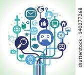 vector internet concept  ... | Shutterstock .eps vector #140277268