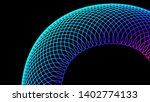 Abstract Colorful Spiral Graph...