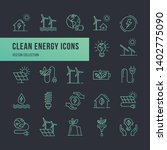 set of eco vector icons in line ... | Shutterstock .eps vector #1402775090