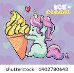 cute sweet unicorn kawaii... | Shutterstock .eps vector #1402780643
