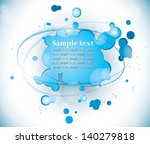 blue splattered paint  abstract ... | Shutterstock .eps vector #140279818