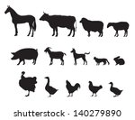 Stock vector farm animals vector set livestock 140279890