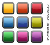 colorful square glossy buttons | Shutterstock .eps vector #140280160