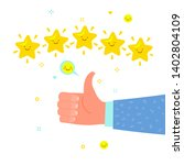 concept of rate and success.... | Shutterstock .eps vector #1402804109