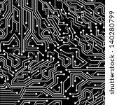 circuit board over black... | Shutterstock .eps vector #140280799