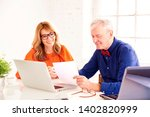 shot of business meeting in the ... | Shutterstock . vector #1402820999