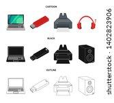 bitmap illustration of laptop... | Shutterstock . vector #1402823906