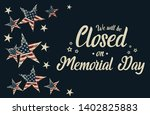 memorial day  we will be closed ... | Shutterstock .eps vector #1402825883