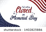 memorial day  we will be closed ... | Shutterstock .eps vector #1402825886