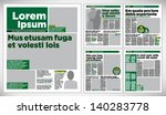Graphical design newspaper template | Shutterstock vector #140283778