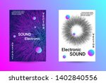 music cover design. a set of... | Shutterstock .eps vector #1402840556