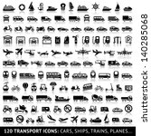 120 Transport Icon With...