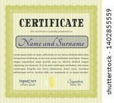 yellow diploma template or... | Shutterstock .eps vector #1402855559