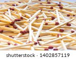 close up of a pile of matches... | Shutterstock . vector #1402857119
