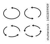 set of black circle vector...   Shutterstock .eps vector #1402859909