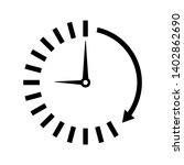 passage of time icon.flat... | Shutterstock .eps vector #1402862690