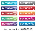 buy now buttons | Shutterstock .eps vector #140286310
