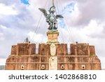 bronze statue of michael the...   Shutterstock . vector #1402868810