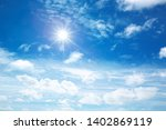 sunny sky background whith... | Shutterstock . vector #1402869119