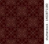 vintage endless pattern... | Shutterstock .eps vector #1402871180