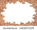 old brick wall background. red...   Shutterstock .eps vector #1402871249